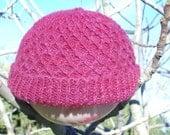 SALE--Diamond Trellis hat made from homegrown, handspun shetland sheep wool.