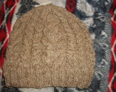 Reserved for CYAMS-Double cabled hat made from handspun shetland sheep wool in Dark Moorit color