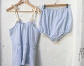 Pinstriped Sky Blue Pajama Set