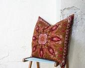 SALE- Gigantic Vintage Scarf Throw Pillow