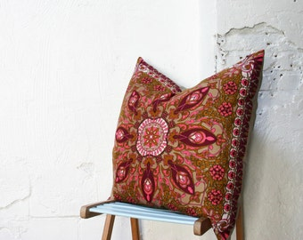 SALE- Gigantic Vintage Scarf Throw Pillow