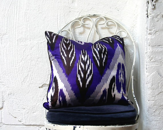 Silk Ikat Throw Pillow