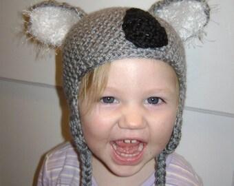 koala earflap hat