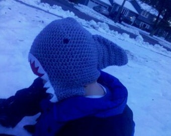 shark earflap hat