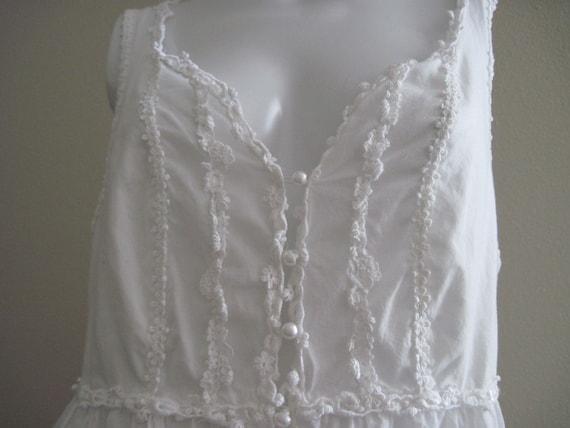 Victorias Secret White Cotton Nightgown W Lace Amp Pearl Buttons