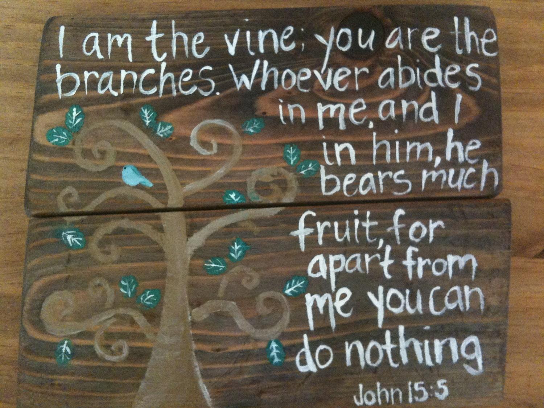 John 15 5 Scripture Art
