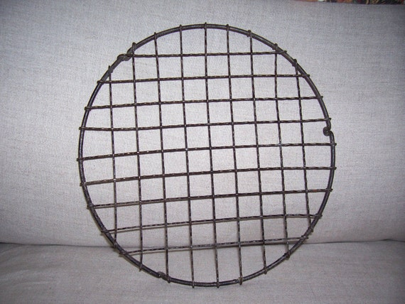 RESERVED  Antique Crinkle Wire Round Cooling Rack Primitive Free shipping