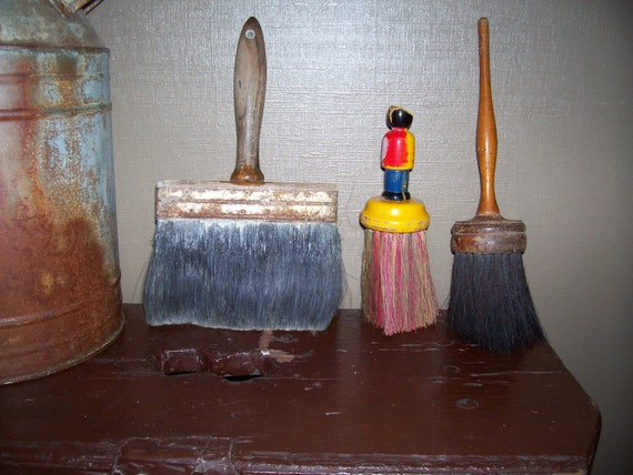 RESERVED FOR MARKInstant Vintage Collection of brushes paintbrushes