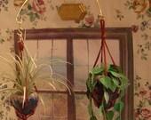 dollhouse scale double swivel hook plant hanger