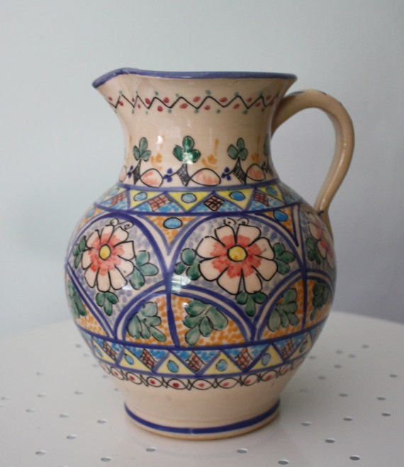 Large Round Pitcher Hand Made in Sunny Spain