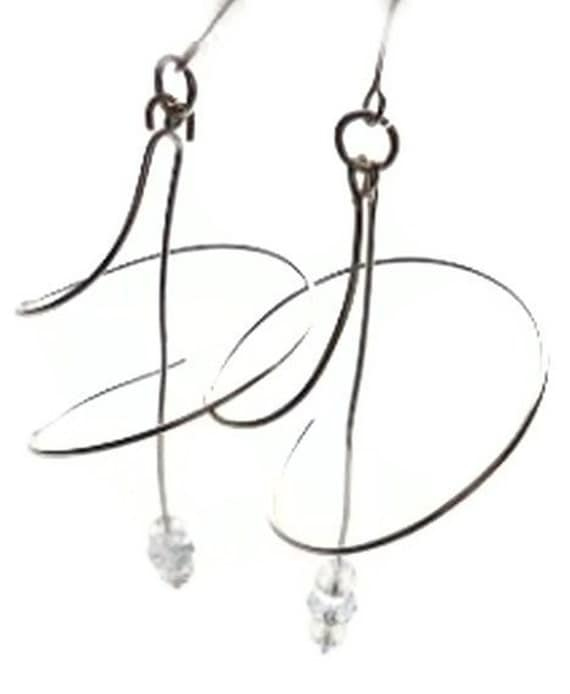 Sterling Silver Spiral Earrings SALE