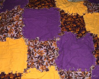 Ragtime Quilt/Blanket-Purples-New-Queen Size-STUNNING COLORS