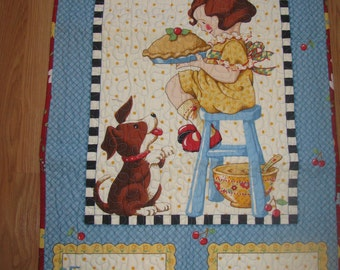 "Quilted Wall Hanging ""Recipe for Freindship"""