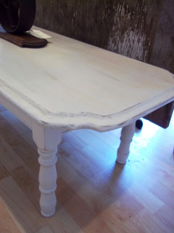 Coffee Table Distressed White