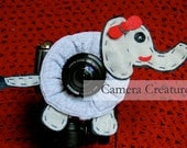 Camera Creatures Eye Catching Elephant with Squeaker
