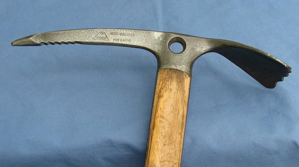 Vintage Stubai Mod Wallner Ice Axe Austria Wood Handle Very