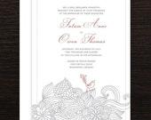 "Wedding Invitation ""Tatum"""