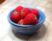 Knitting Pattern Strawberries Waldorf Play Food Amigurumi PDF- Squishy Strawberries - Red Berries - DIY