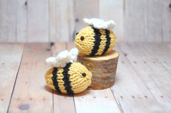 Bumble Bees, Toy Bee, Stuffed Toy Bee, Bee Nursery, Bumble Bee Nursery, Bee Softies, Stuffed Bees, Bee Ornament, Knit Bee, Christmas Bee