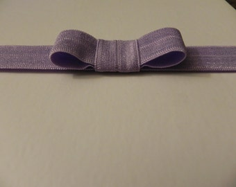 Lavender Headband. Light Purple Headband. Soft Elastic Baby Bow Headband. FOE. Foldover elastic headband. Baby Headband. Baby GIFT.