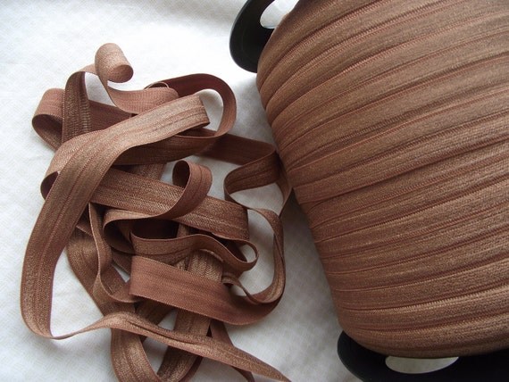 5 Yards Medium Brown Fold Over Elastic 5/8""