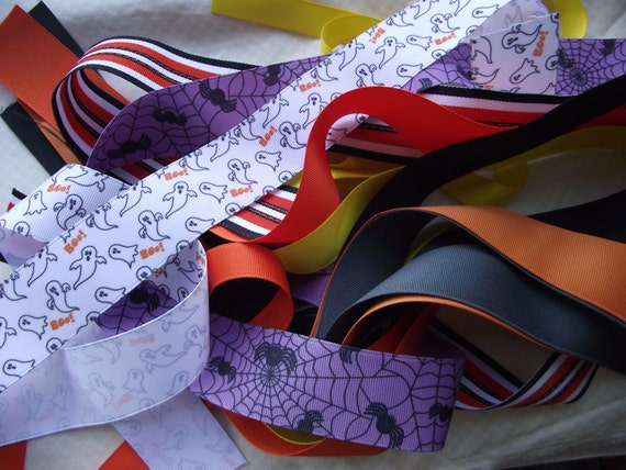 10 yards of Halloween Grosgrain Ribbon H3