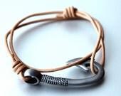 Fish Hook Bracelet Beige