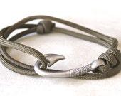 Fish Hook Bracelet - Olive Green
