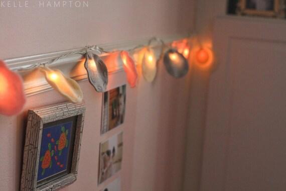 Fairy Lights, Girl's Room Night light, toddler gift, Baby Shower Gift, Nursery Decor, kids lamp, Circle Pastel Felt Twinkle Lights