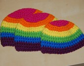 Rainbow Striped Baby Beanie