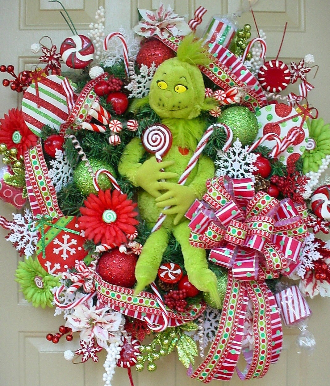 Christmas Decorations The Grinch: Who Stole Christmas-Grinch Holiday Christmas Wreath-Bright