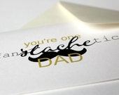Birthday Card. Father's Day Card - one FanSTACHEtic Dad