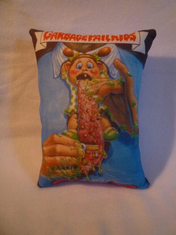 """RESERVED Garbage Pail Kids """"Tongue Tied Tara"""" Pillow"""