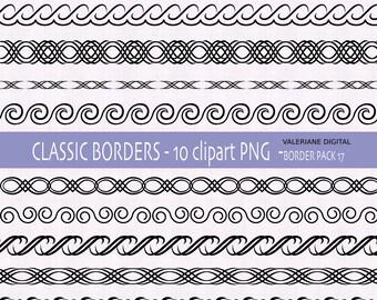 10 digital clip art border, digital clip art Border, digital border - INSTANT DOWNLOAD Pack 349