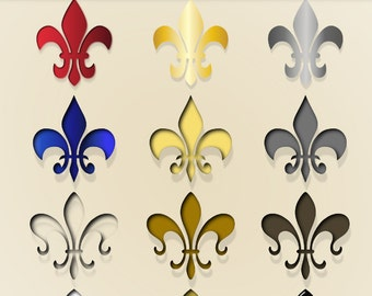 Fleur de Lis ClipArt  - Digital clipart Design Elements for invitations, scrapbooking-  INSTANT DOWNLOAD -Png and Jpg -  041