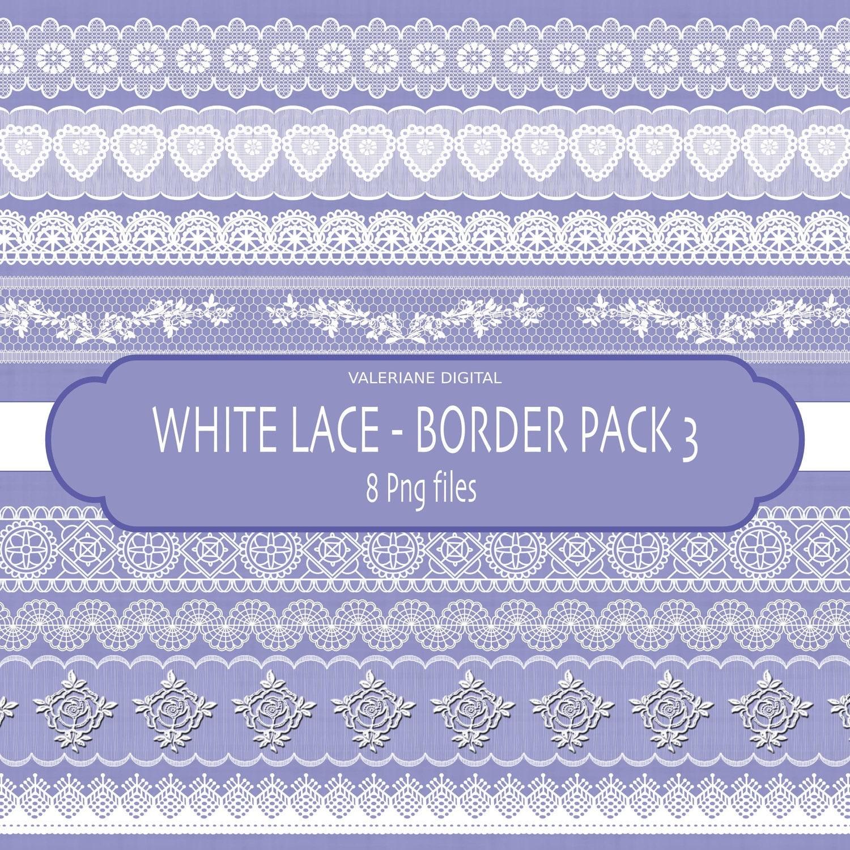 Lace border clip art Digital clipart Digital Border