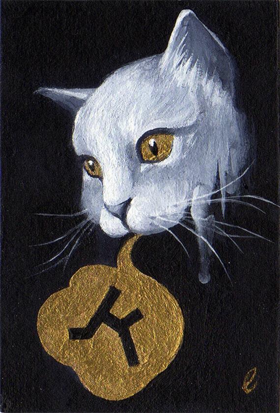 "Original painting - ""Gift"" series, I (Cat)"