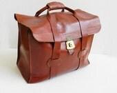 RESERVED FOR ANNA Vintage 1940s Tommy Traveler Leather Weekender