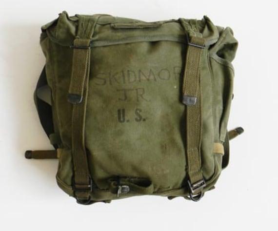Vintage Wwii Us Military Backpack