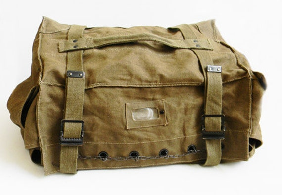 Antique Italian Military WWII Bag Backpack