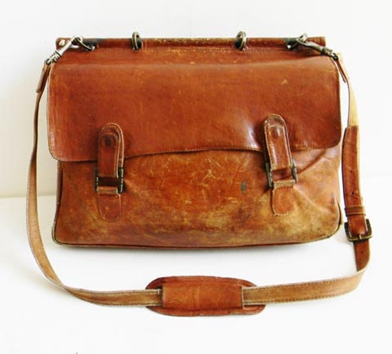 Vintage Leather Mail Bag Made in COLUMBIA