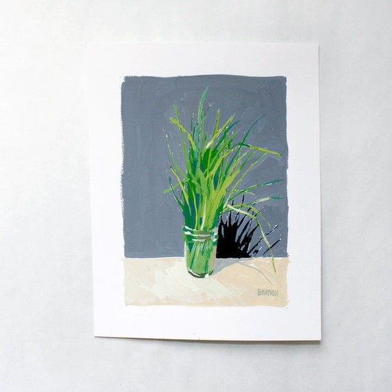 grass painting - original art