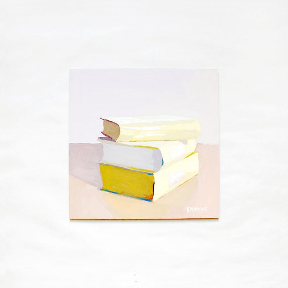 "book painting ""Stack of Cookbooks"" - original art"