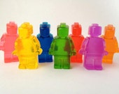 Rainbow Jelly Lego Men Soaps
