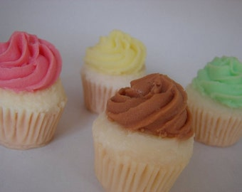 Set of 4 Mini Cupcake Soaps