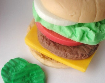 Life Size Burger Soap Set