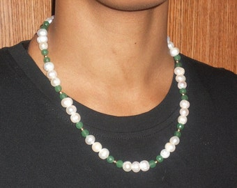 Pearls and Emeralds Necklace