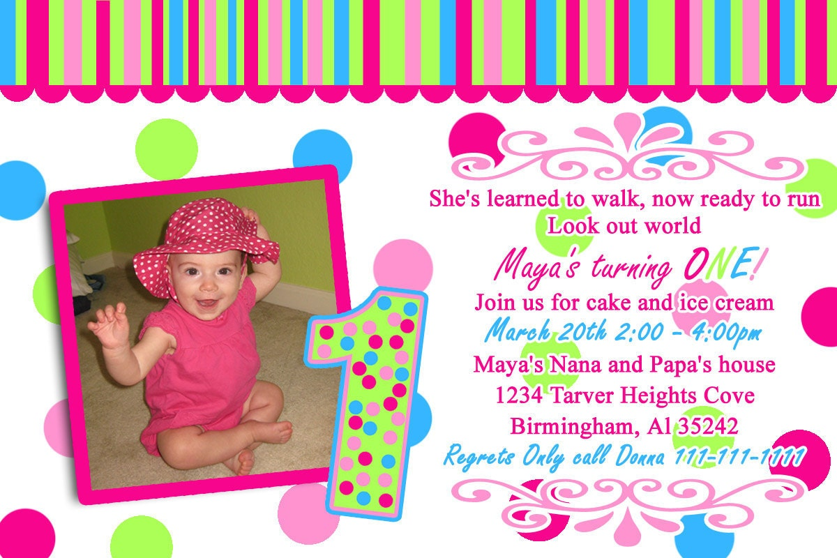Sample Of Invitation Card For 1St Birthday is awesome invitation example