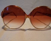 RESERVED for Franziska Vintage Oversized Tortise Shell Sunglasses with graduated Rose Colored Lenses by Foster Grant USA