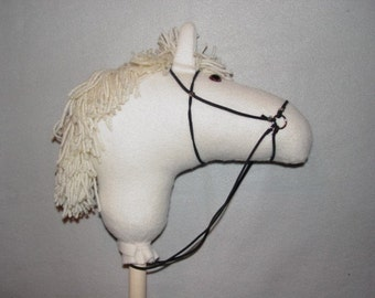 White Handmade Stick Horse
